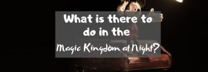 What is there to do in the Magic Kingdom at Night?